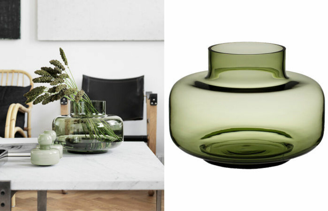 Urna vas från Marimekko i grönt