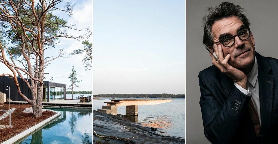 Mark Isitt är imponerad av det studentritade huset som är byggt på en klippig ö i Åbos skärgård.