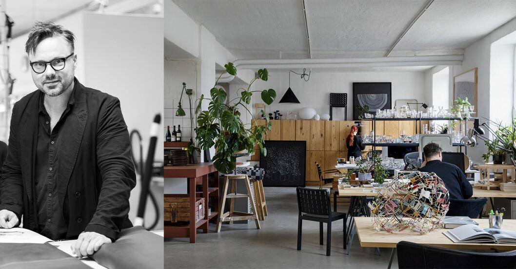 Formgivaren Matti Klenell och inblick i hans ateljé