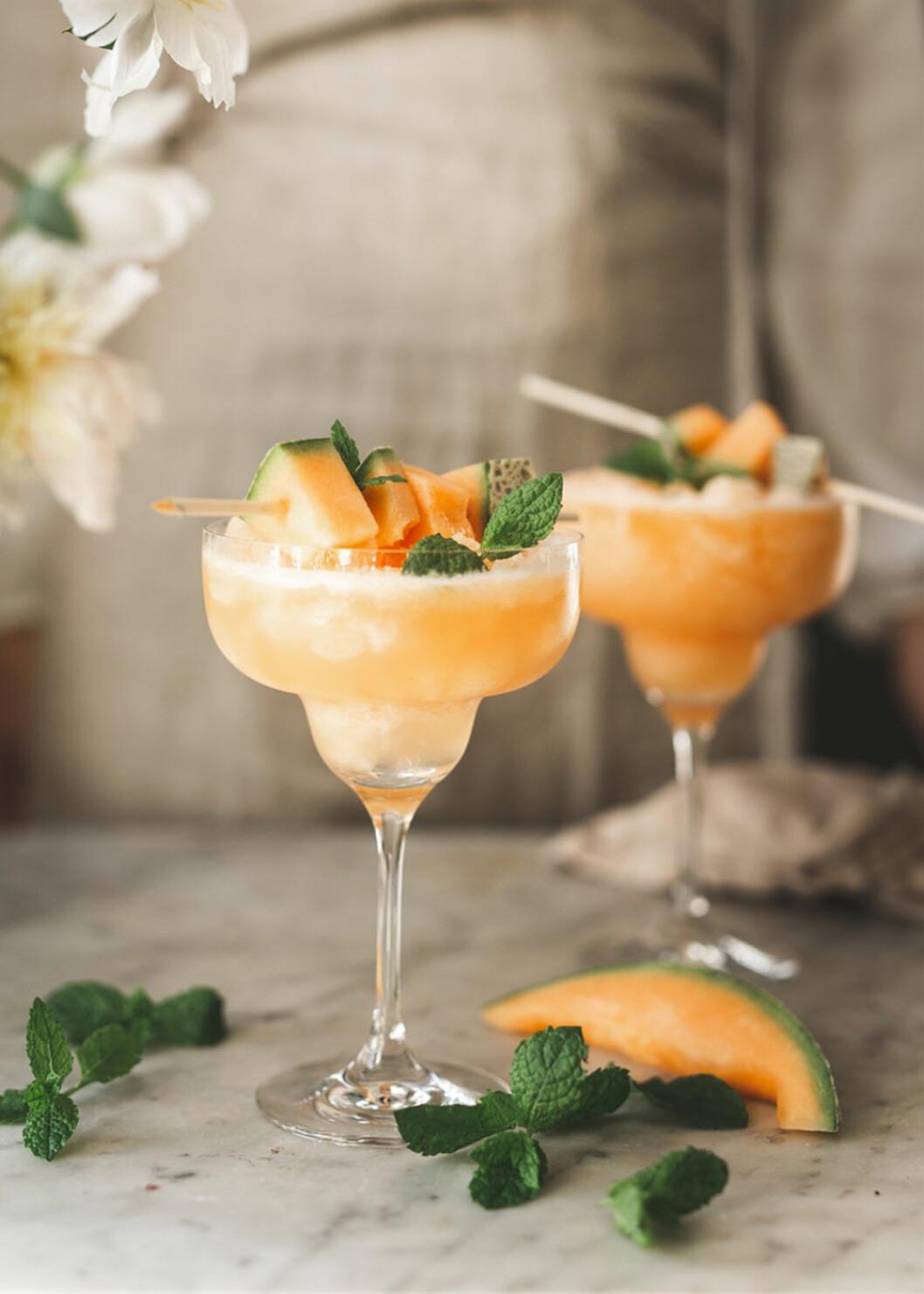 enkel melonslush drink