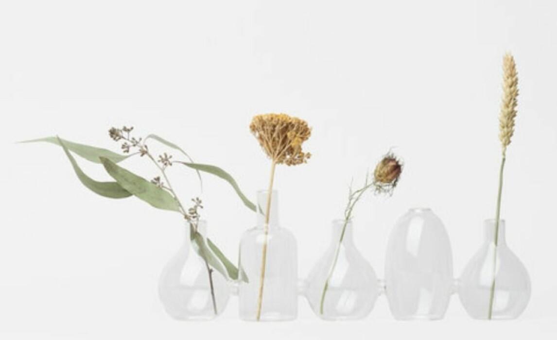 minivaser i glas från Åhléns