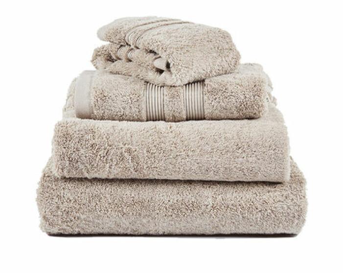 mjuka beige handdukar