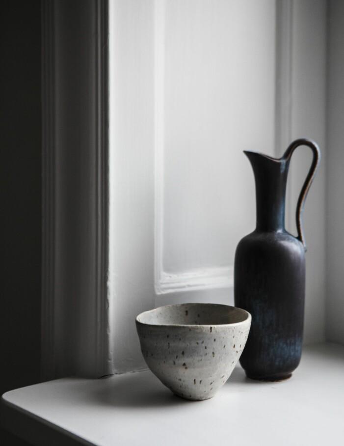 Vas och skål i keramik