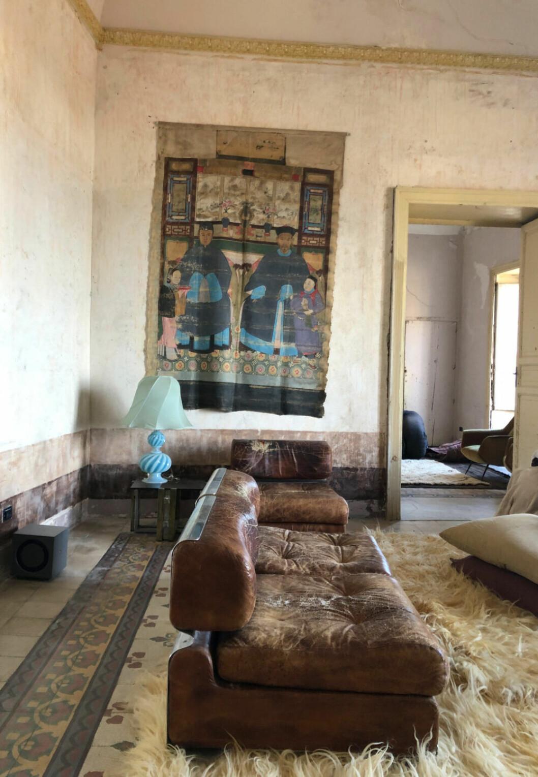 Vardagsrum i Palazzo Cirillo