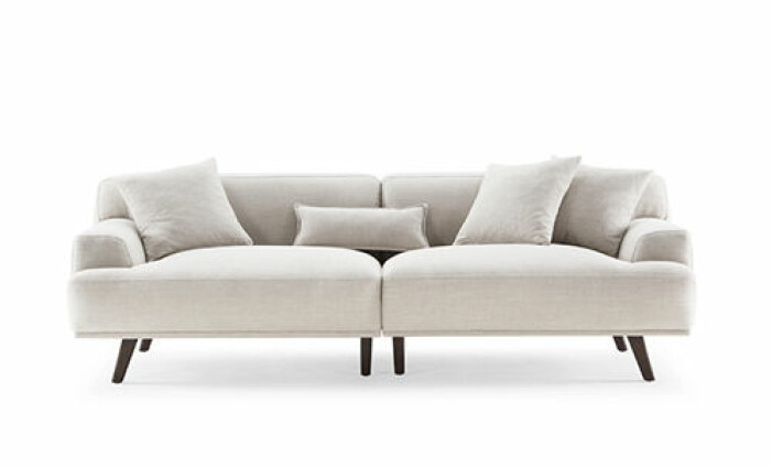 Modern soffa i linnetyg, Soffadirekt
