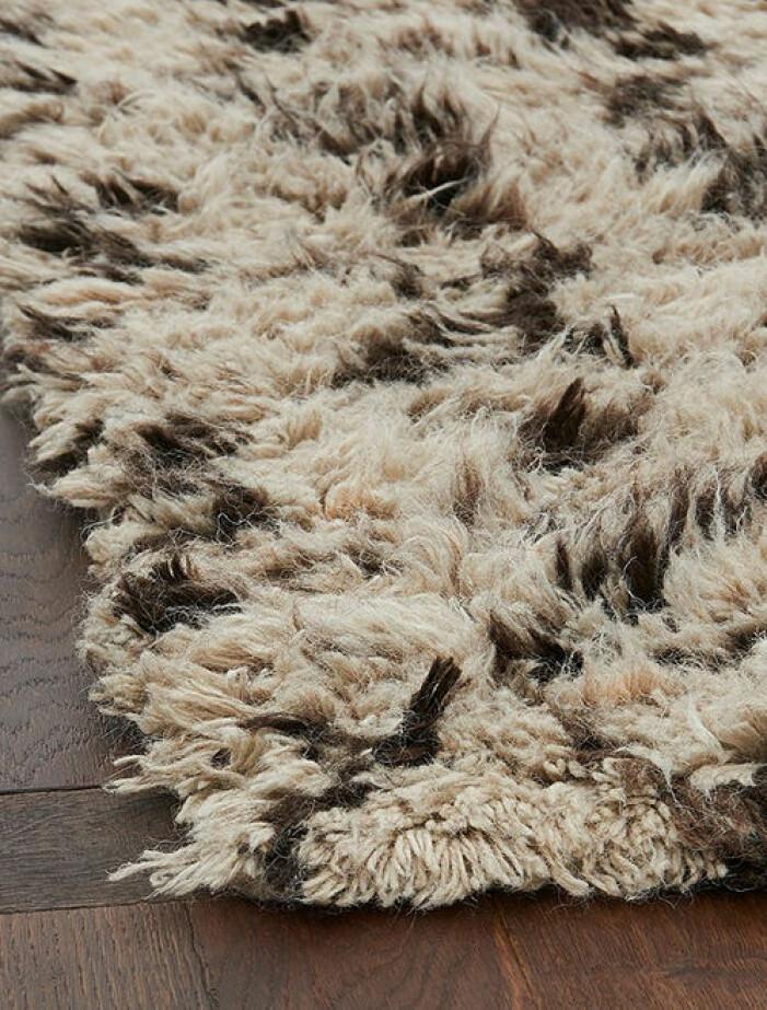 Mönstrad matta i ull från Ellos Home
