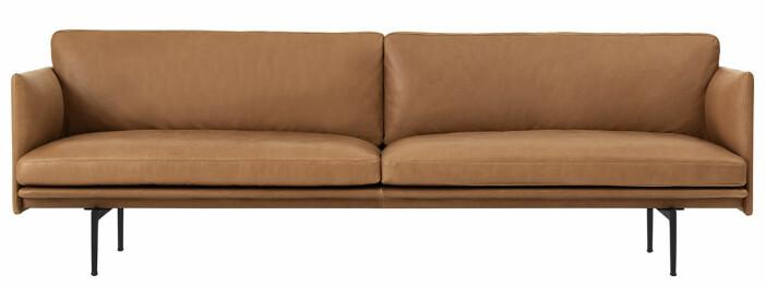beige lädersoffa