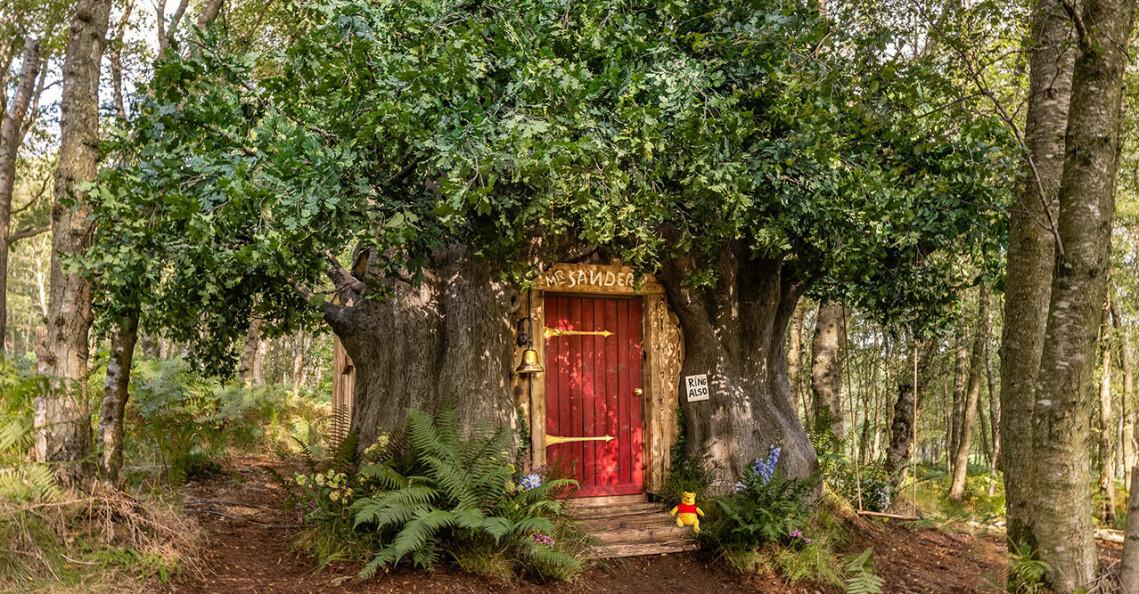 Nalle Puhs idylliska trädhus finns på Airbnb.