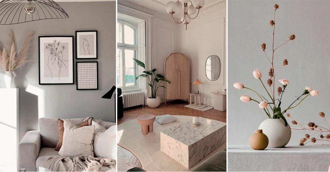 Skandinaviska hem i jordnära färger.