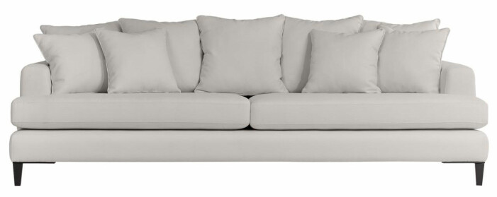 soffa i beige färg