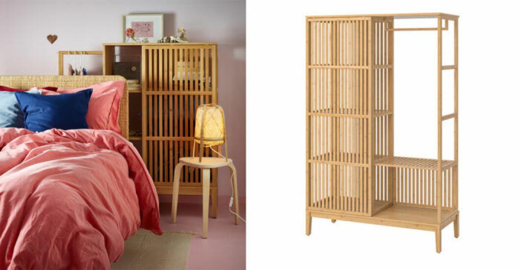Nordkisa bambuskåp Ikea