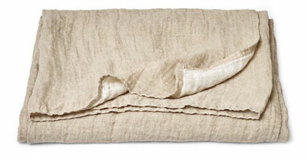 överkast linne beige