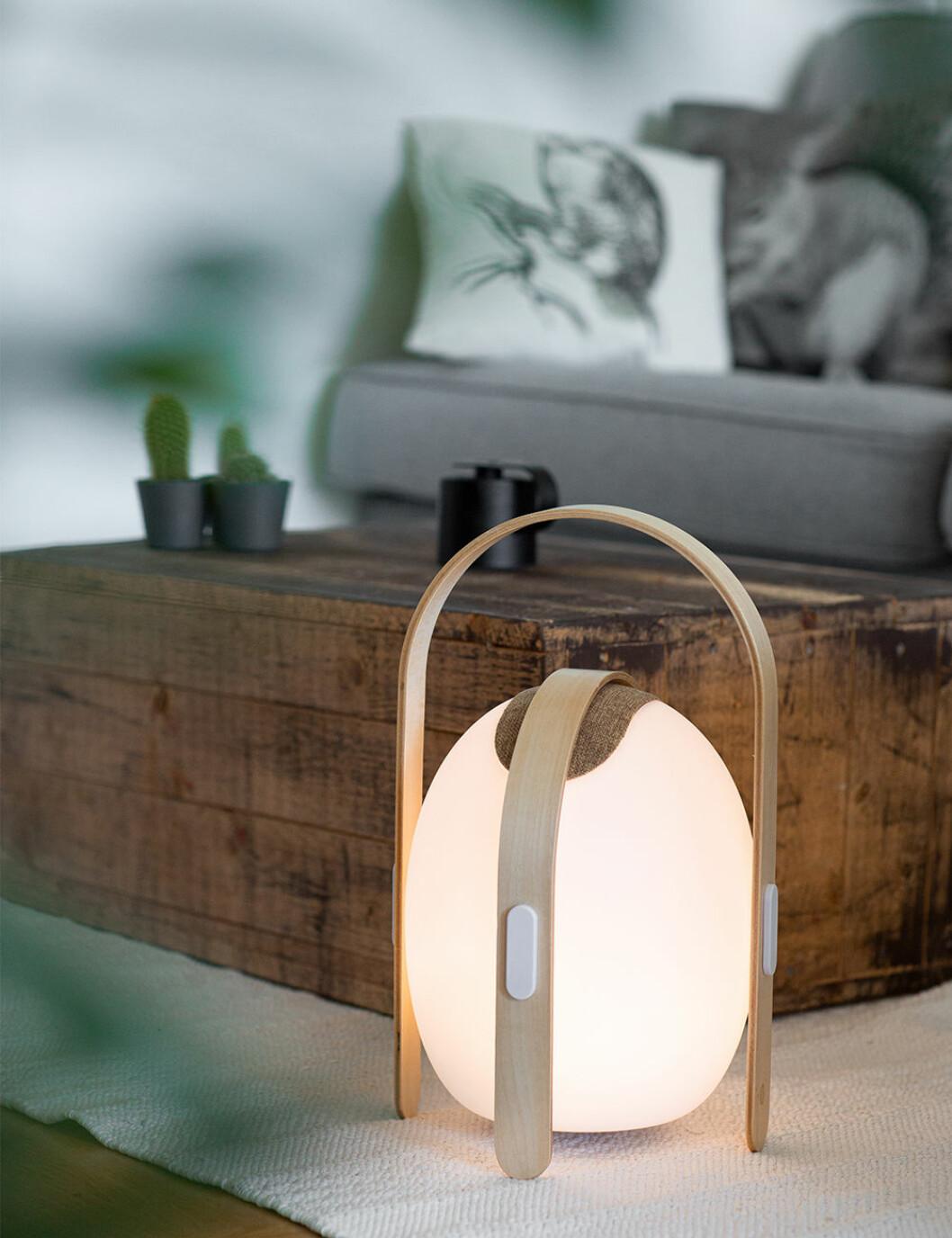 Ovo mini högtalare och lampa i ett från Mooni