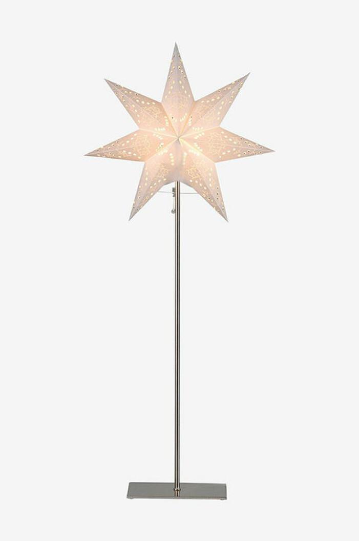 pappersstjärna på metallfot från star trading