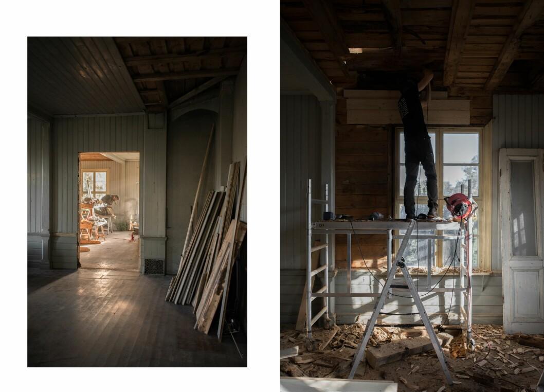 Paret har gjort renoveringen helt på egen hand. Med hjälp från Lovisas pappa, rörmokare och elektriker.