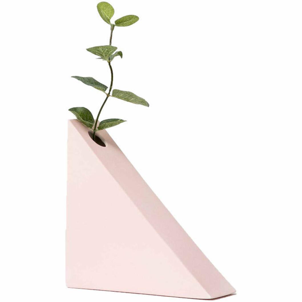 Triangelvas i rosa porslin