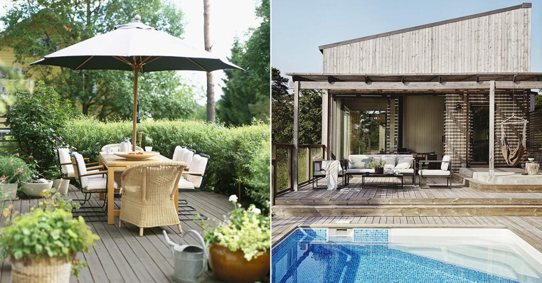 pool och uteplats är populära sökord på Hemnet