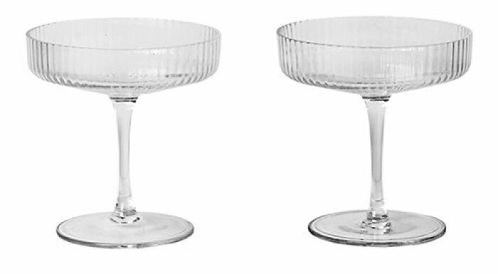 räfflade champagneglas