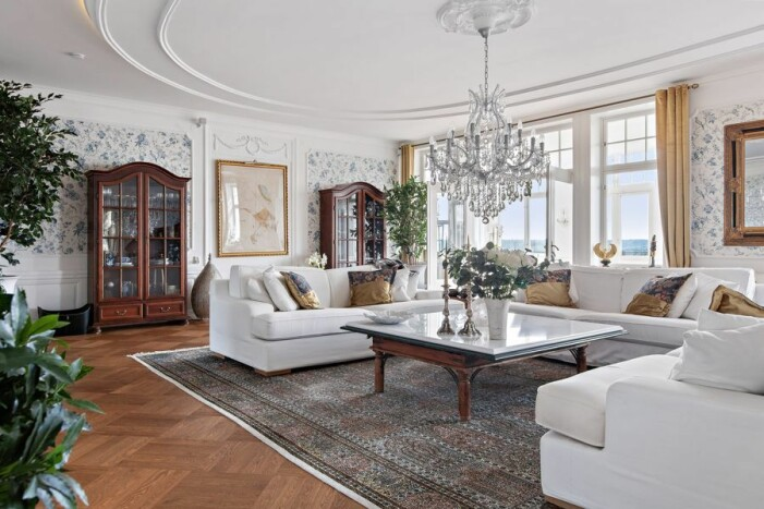 Slott till salu för 59 miljoner kronor, vardagsrum