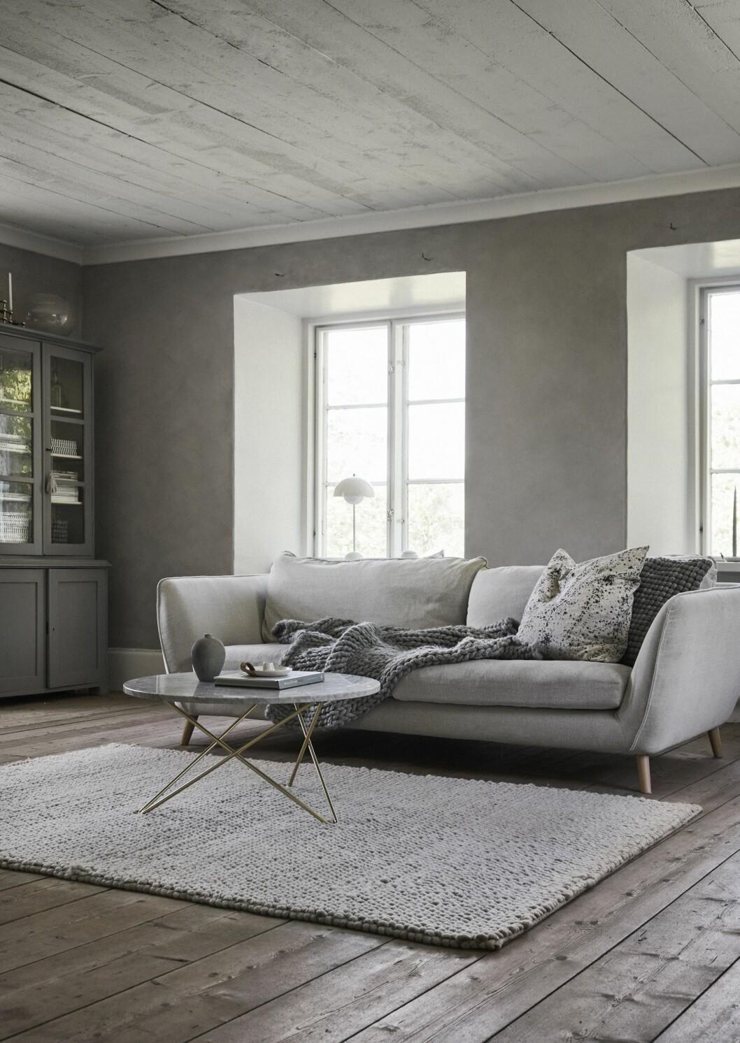 Vardagsrum hemma hos Linda och Martin på Gotland.