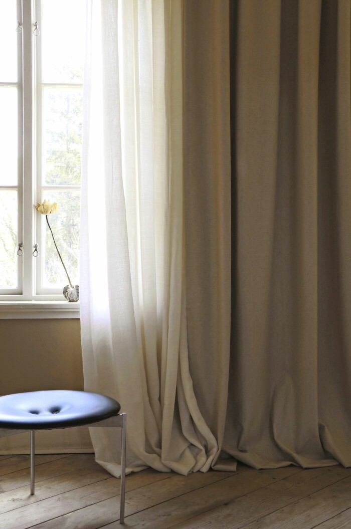 retreat gardin av återvunnen ull från mimou