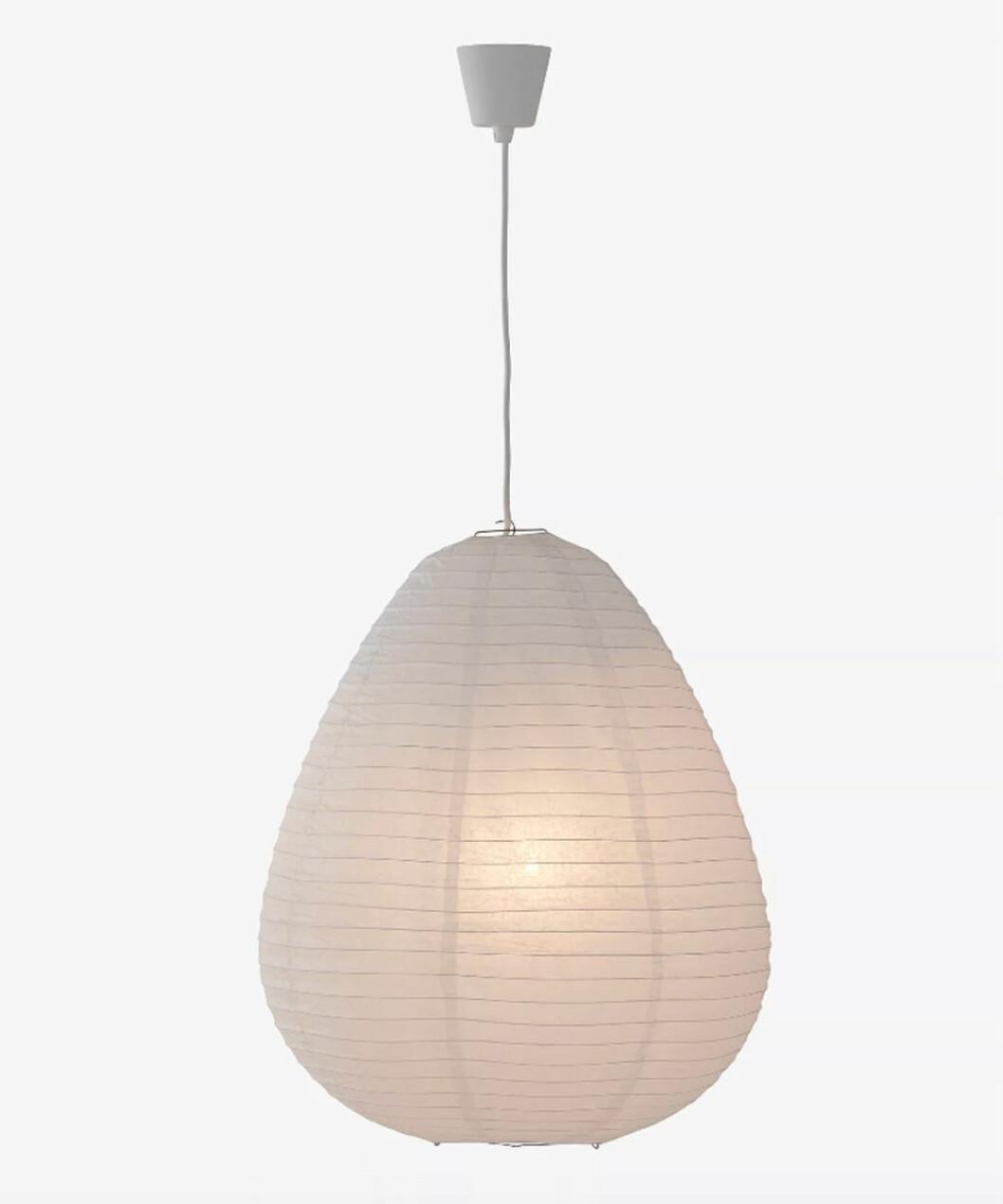 droppformad rispapperslampa