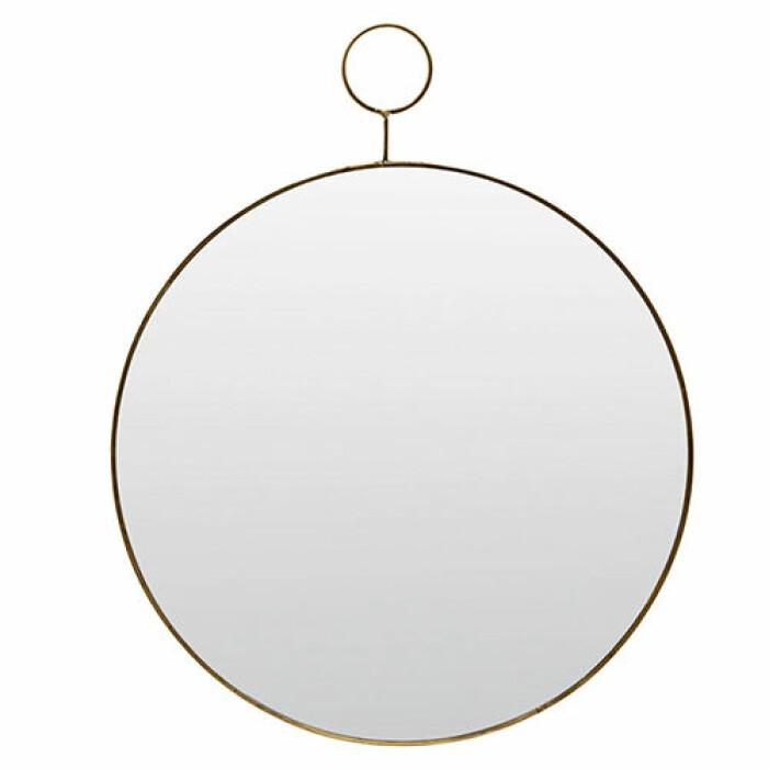 rund spegel mässing