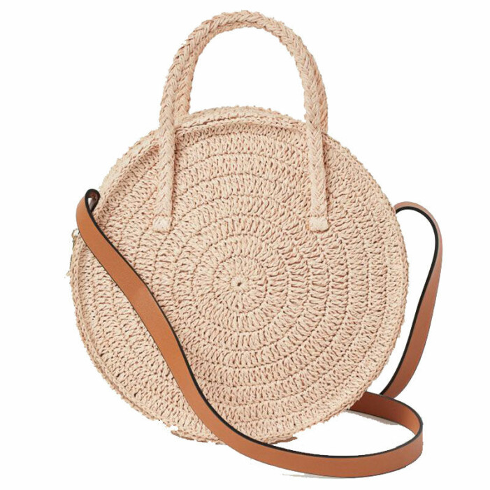 Rund stråväska från H&M