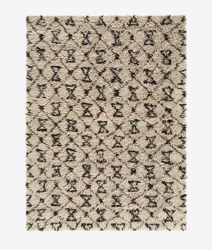 Ryamatta i ull med mönster från Ellos Home