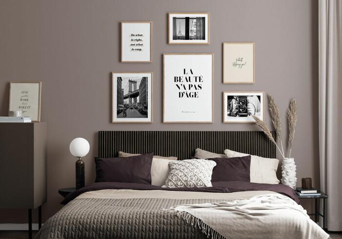 En välkurerad tavelvägg passar i alla hemmets rum, från vardagsrum till sovrum