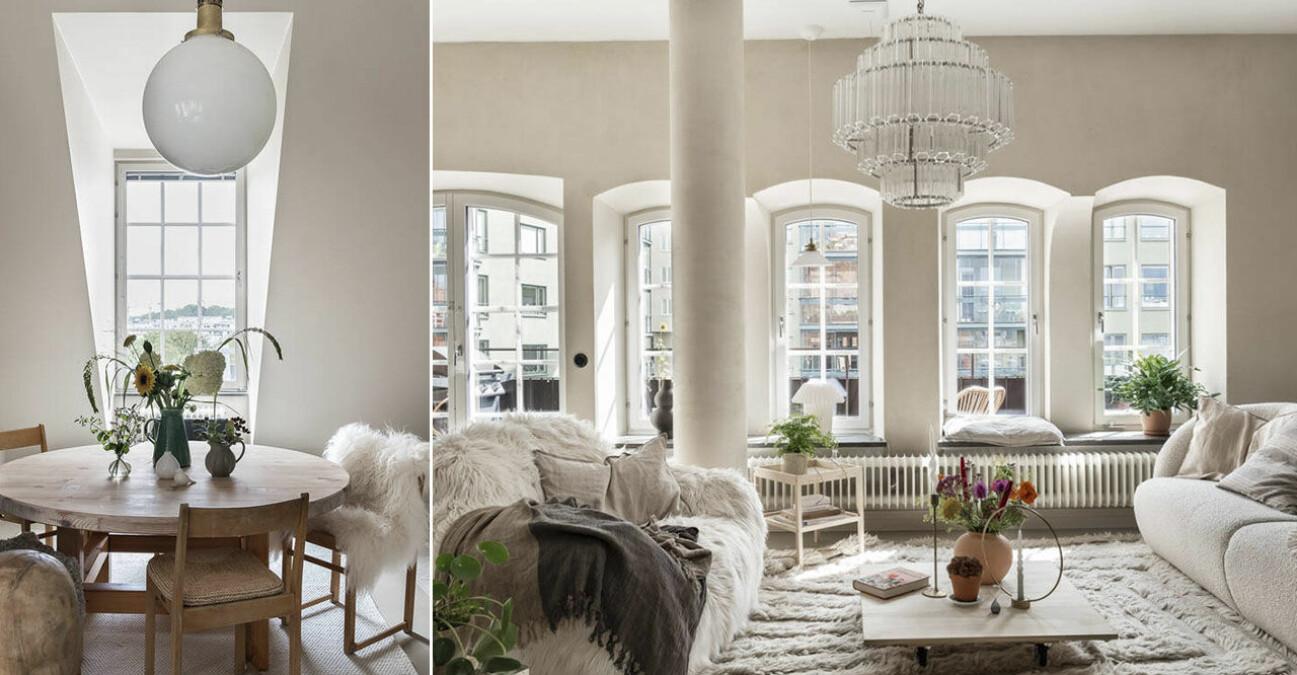 Etagelägenhet i Saltsjökvarn sex rum och balkong