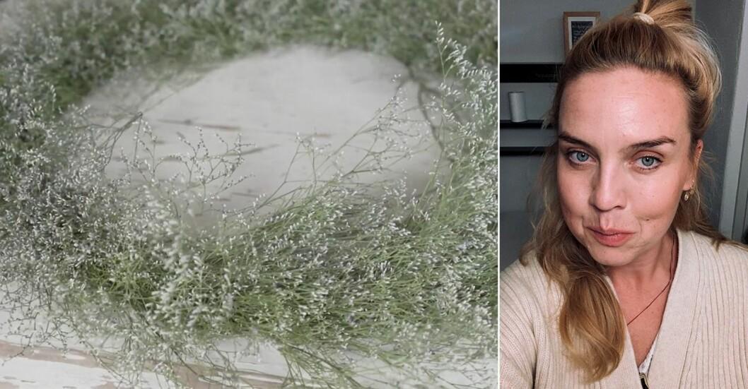 Sandra Britz, florist på Bell & Bonn lär oss hur du själv kan skapa en vacker dörrkrans.