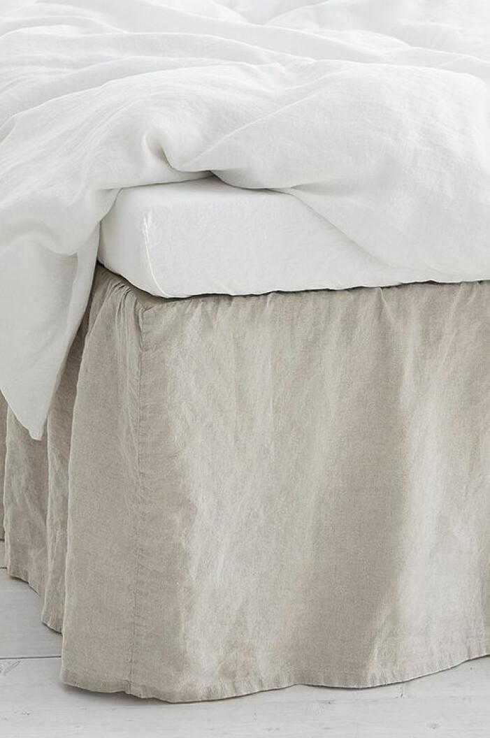 sängkappa i linne