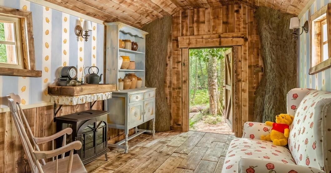 Interiörbild från Nalle Puhs hus på Airbnb