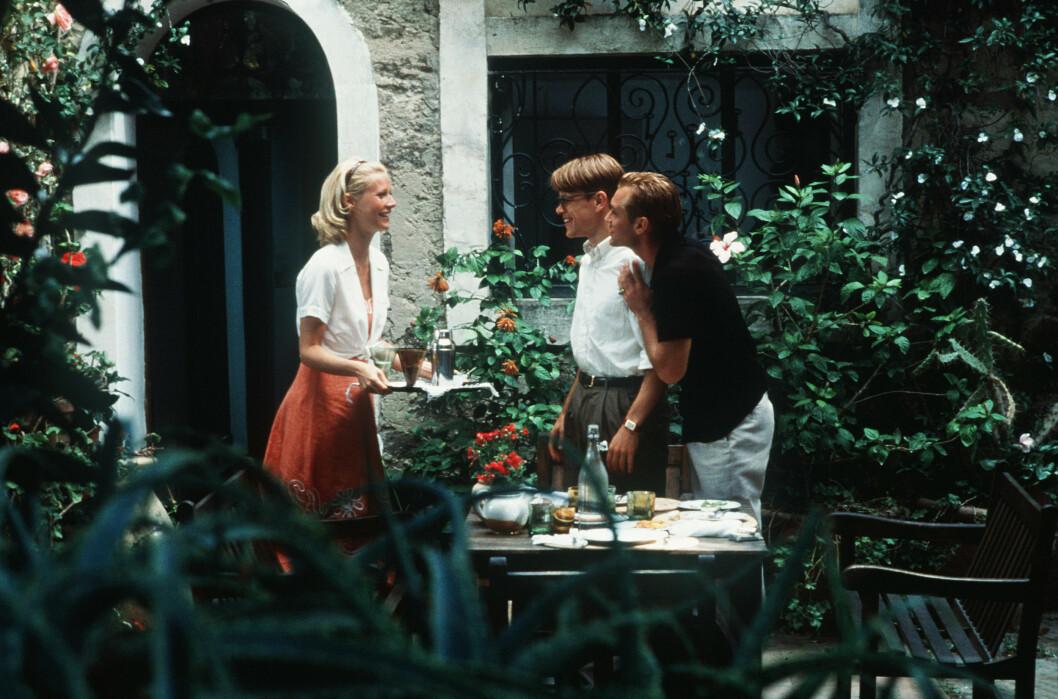 Gwyneth Paltrow, Matt Damon och Jude Law i den ikoniska filmen The Talented Mr. Ripley.