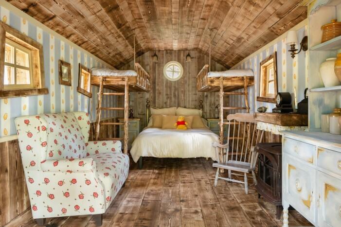 Sovrummet i Nalle Puhs hus på Airbnb