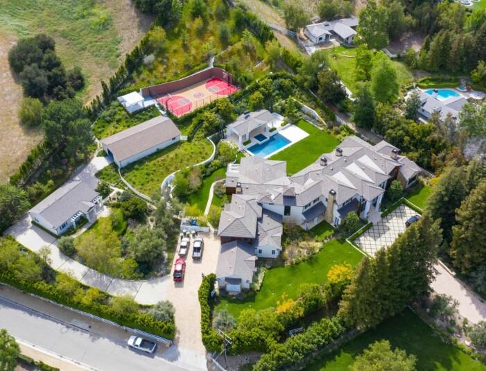 Madonnas nya hus ovanifrån.