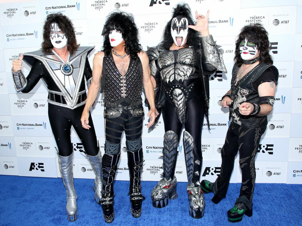 Bandmedlemmarna från vänster: Tommy Thayer, Paul Stanley, Gene Simmons and Eric Singer.