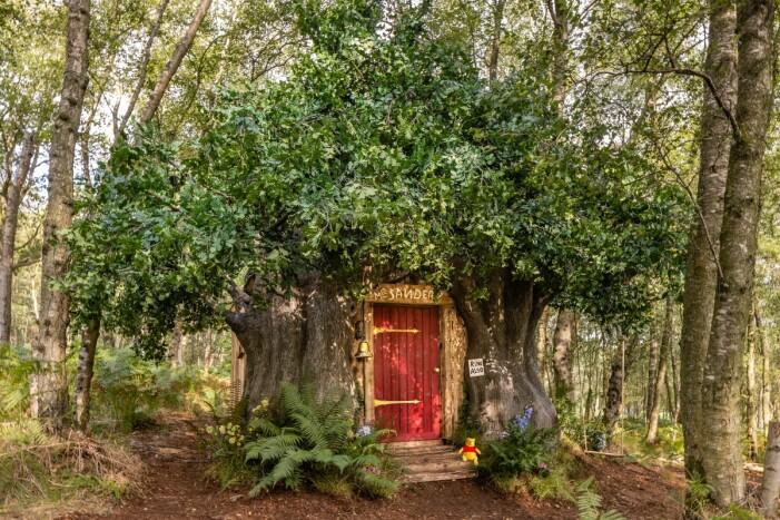 Nalle Puhs trädhus på Airbnb