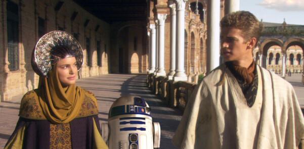 Scen ur George Lucas film Star Wars: Episode II - Attack of the Clones