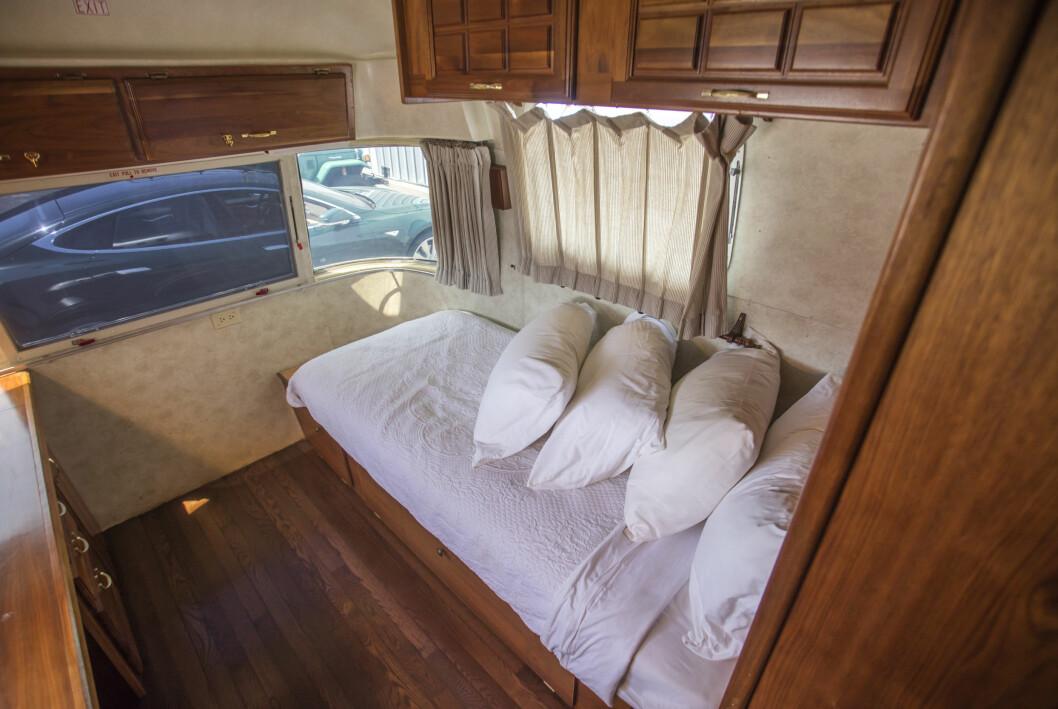 Tom Hanks husvagn sovrum.