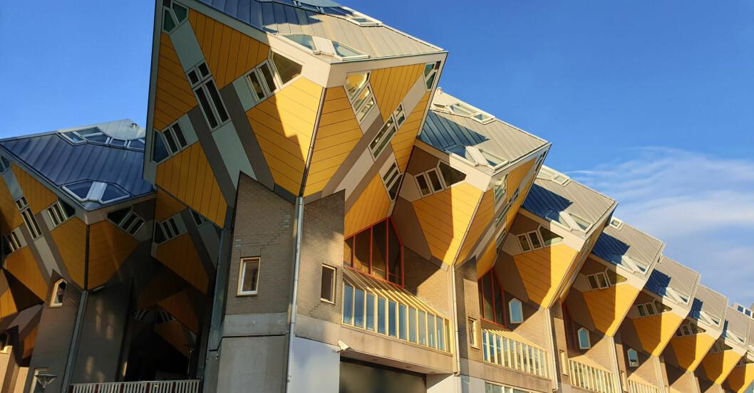 Kubuswoningen i Rotterdam, Nederländerna