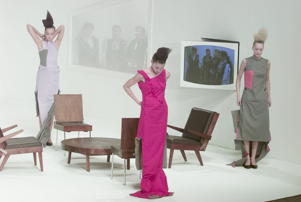 Hussein Chalayan Chair Dresses