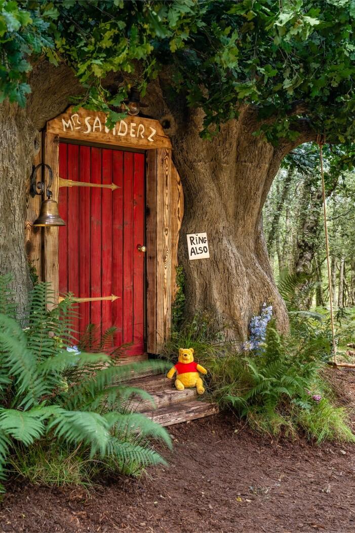 Dörren till Nalle Puhs hus på Airbnb
