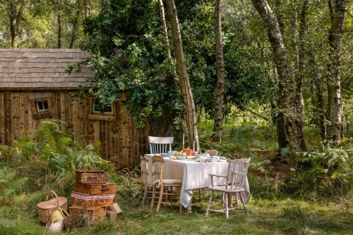 Uteplatsen vid Nalle Puhs hus på Airbnb