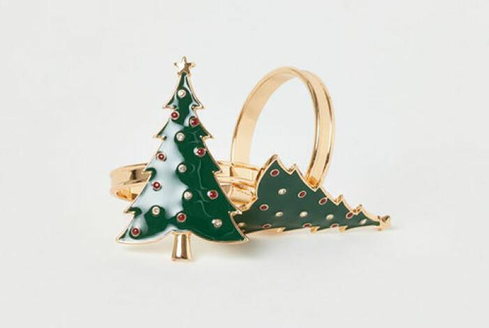 Servettringar i form av julgranar, H&M Home
