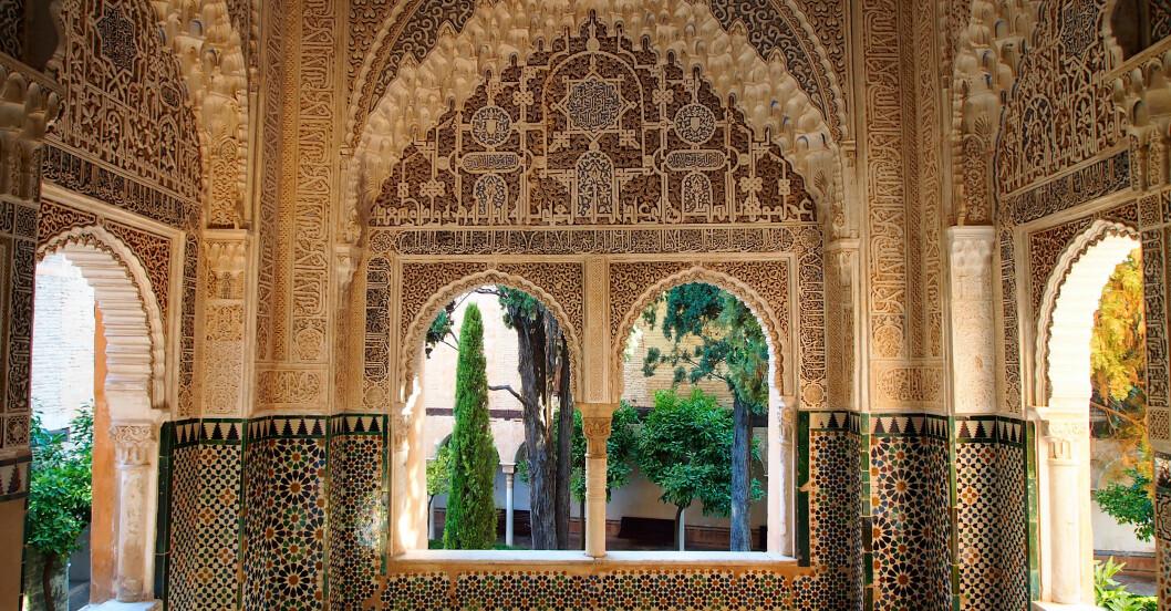 Alhambra i spanska området Andalusien