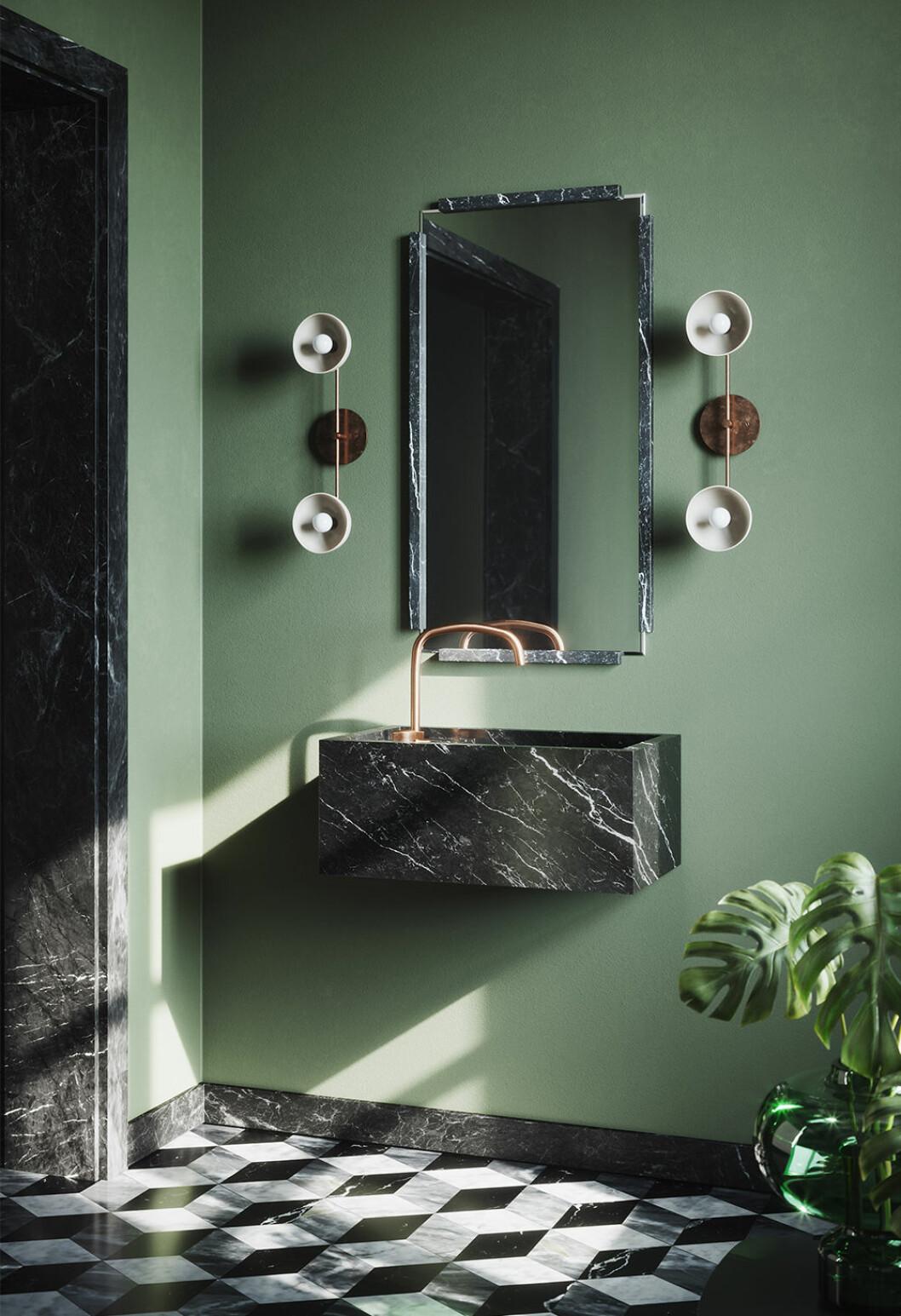 Grönt lyxigt badrum från Vanitas