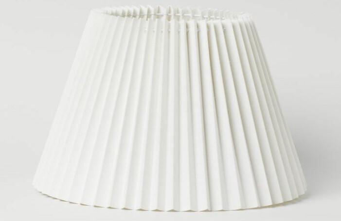 plisserad lampskärm