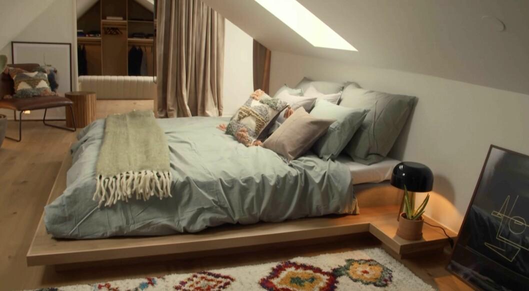 Sovrummet efter renoveringen.